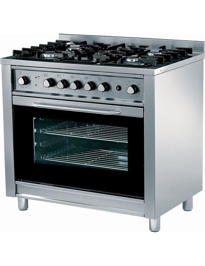 fornello a gas su base con forno elettrico